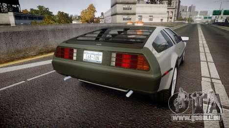 DeLorean DMC-12 [Final] für GTA 4 hinten links Ansicht