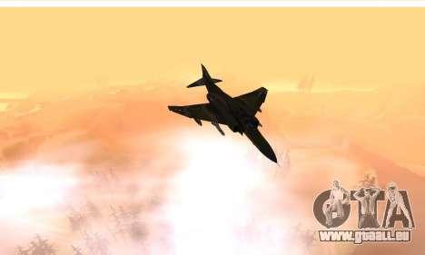 F-4 Vietnam War Camo pour GTA San Andreas vue intérieure