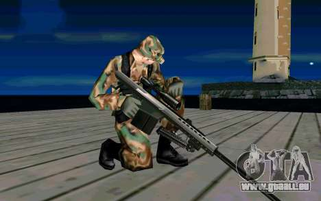 Barret M107 pour GTA San Andreas quatrième écran