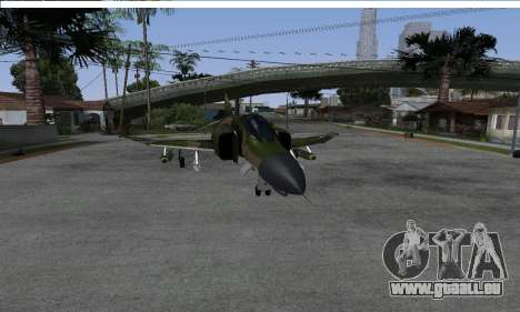 F-4 Vietnam War Camo pour GTA San Andreas vue de droite