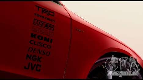 Audi S4 2010 Blacktop pour GTA San Andreas sur la vue arrière gauche