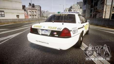 Ford Crown Victoria Police Alderney [ELS] pour GTA 4 Vue arrière de la gauche