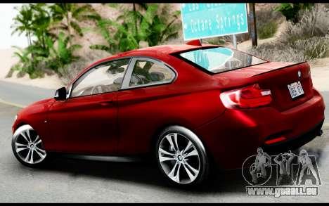 BMW M235i F22 2015 für GTA San Andreas zurück linke Ansicht