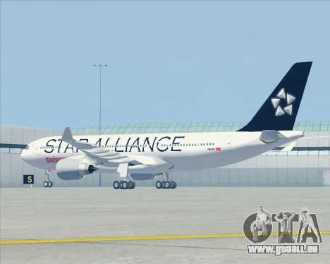 Airbus A330-200 SWISS (Star Alliance Livery) pour GTA San Andreas vue arrière