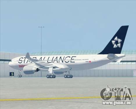 Airbus A330-200 SWISS (Star Alliance Livery) pour GTA San Andreas vue arrière