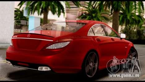 Mercedes-Benz CLS 63 AMG 2010 pour GTA San Andreas vue intérieure