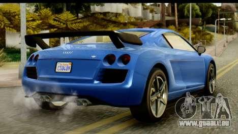 GTA 5 Obey 9F Coupe IVF pour GTA San Andreas sur la vue arrière gauche