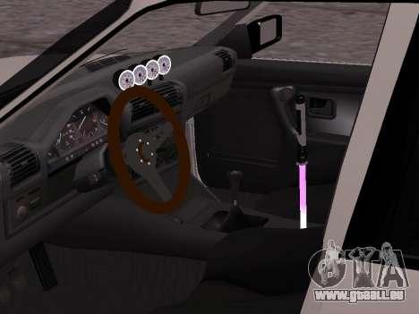 BMW M3 E30 Drift pour GTA San Andreas sur la vue arrière gauche