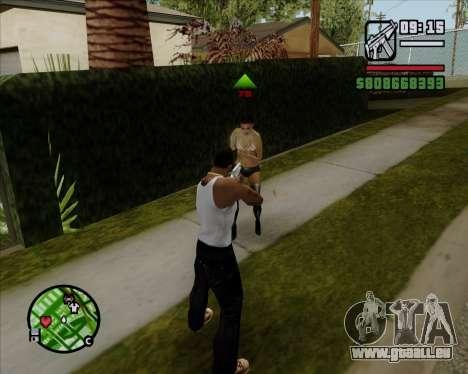 Digitale Anzeige Lebens Gegner für GTA San Andreas dritten Screenshot