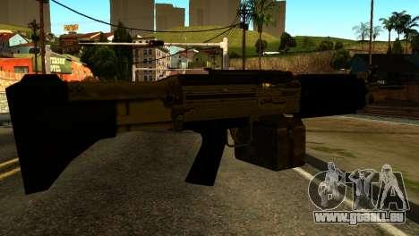 Combat MG from GTA 5 pour GTA San Andreas deuxième écran