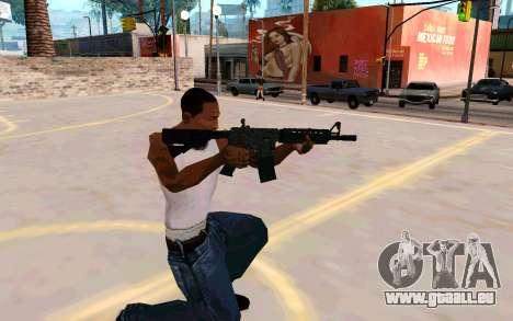 M4A1 (Dodgers) pour GTA San Andreas troisième écran