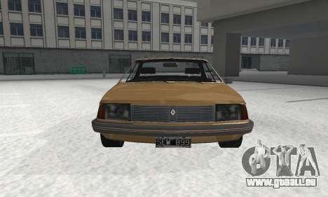 Renault 18 pour GTA San Andreas sur la vue arrière gauche