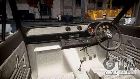 Ford Escort RS1600 PJ39 pour GTA 4 est une vue de l'intérieur