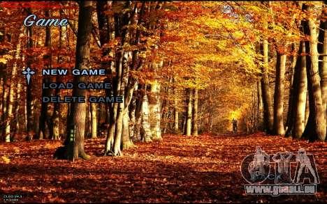 Herbst-Menü für GTA San Andreas zweiten Screenshot