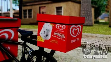 Selecta Ice Cream Bike pour GTA San Andreas sur la vue arrière gauche