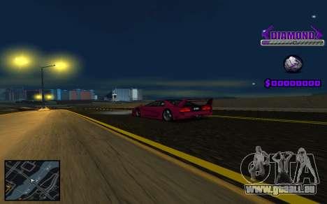 C-HUD Diamond Gangster pour GTA San Andreas deuxième écran