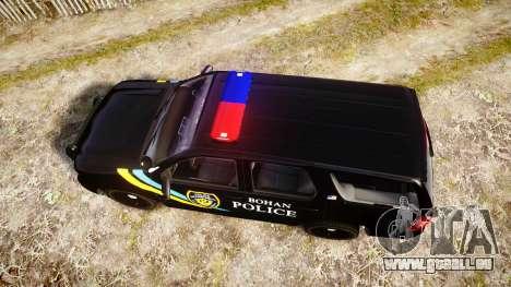 Chevrolet Tahoe 2010 Sheriff Bohan [ELS] pour GTA 4 est un droit