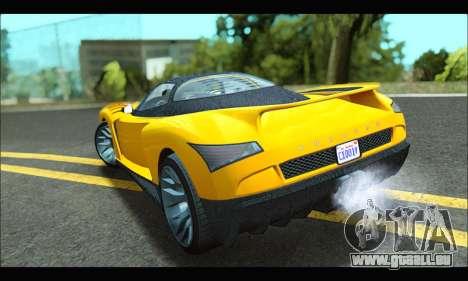 Grotti Cheetah v3 (GTA V) (IVF) pour GTA San Andreas laissé vue