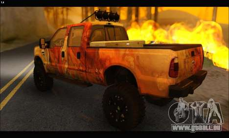 Ford F-250 Rusty Lifted 2010 pour GTA San Andreas vue arrière