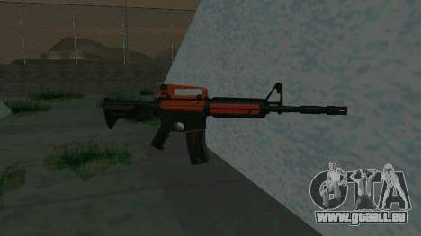 Orange M4A1 für GTA San Andreas zweiten Screenshot