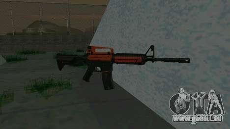 Orange M4A1 für GTA San Andreas zweiten Screenshot