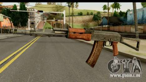 L'AKS-74 en Bois Foncé pour GTA San Andreas