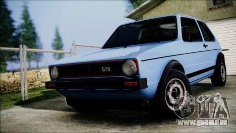 Volkswagen Golf Mk1 GTD pour GTA San Andreas vue arrière