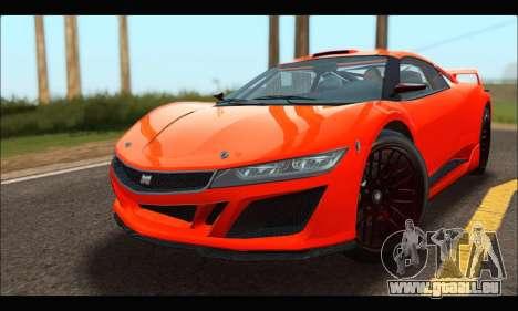 Dinka Jester Racecar (GTA V) pour GTA San Andreas laissé vue