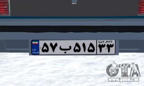 Peykan Separ Joshan 1600 für GTA San Andreas Unteransicht