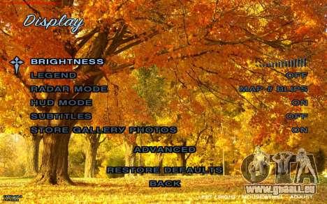 Herbst-Menü für GTA San Andreas dritten Screenshot