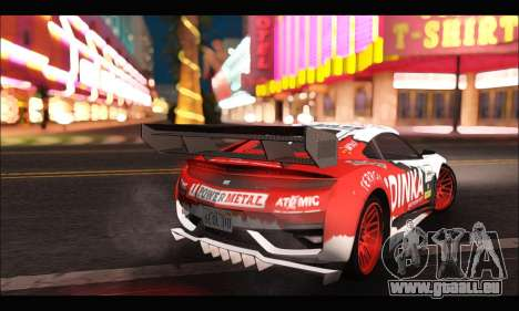 Dinka Jester Racear (GTA V) pour GTA San Andreas sur la vue arrière gauche