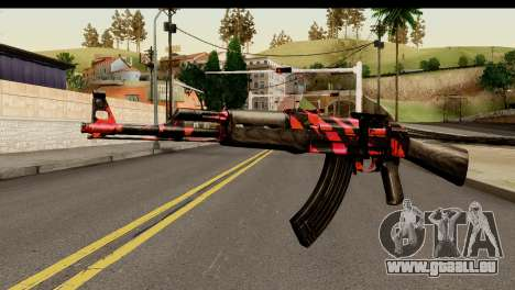 Red Tiger AK47 für GTA San Andreas