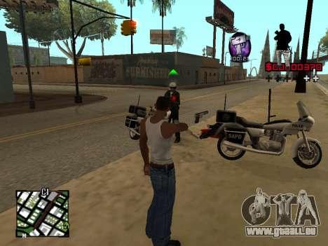 C-HUD by Alesha pour GTA San Andreas troisième écran