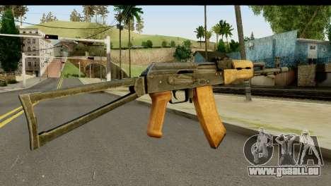 L'AKS-74 en Bois clair pour GTA San Andreas deuxième écran