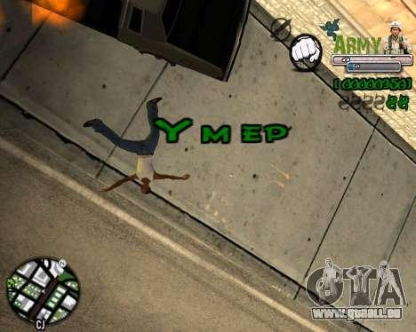 C-HUD Army für GTA San Andreas her Screenshot