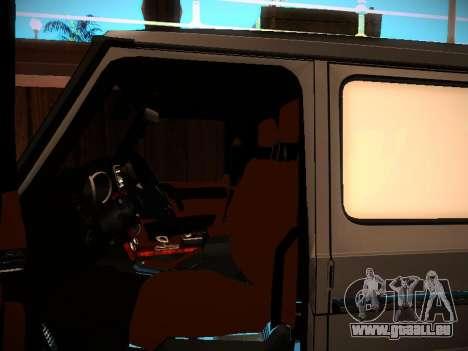 Mercedes-Benz G500 Bluetec 2014 pour GTA San Andreas vue de côté