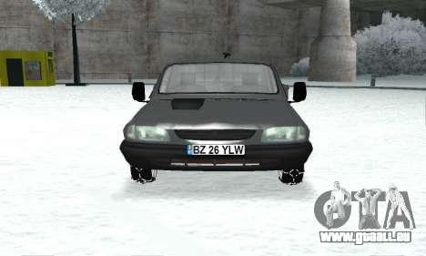 Dacia 1305 Papuc Pick-Up Drop Side 1.9D für GTA San Andreas Rückansicht