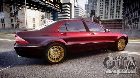 Mercedes-Benz S600 W220 pour GTA 4 est une gauche