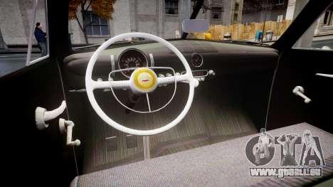 Ford Custom Fordor 1949 pour GTA 4 est une vue de l'intérieur