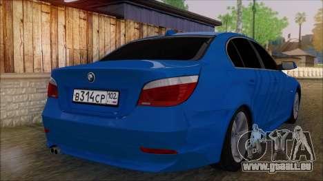 BMW 520i E60 für GTA San Andreas linke Ansicht