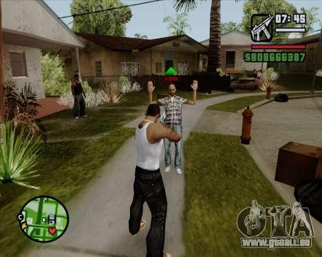 Indicateur numérique de vie adversaires pour GTA San Andreas
