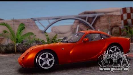 TVR Tuscan S 2001 für GTA San Andreas zurück linke Ansicht