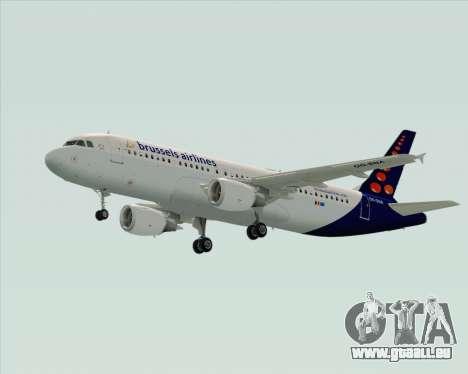 Airbus A320-200 Brussels Airlines pour GTA San Andreas vue de droite