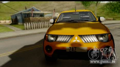 Mitsubishi L200 Triton v1.0 pour GTA San Andreas sur la vue arrière gauche