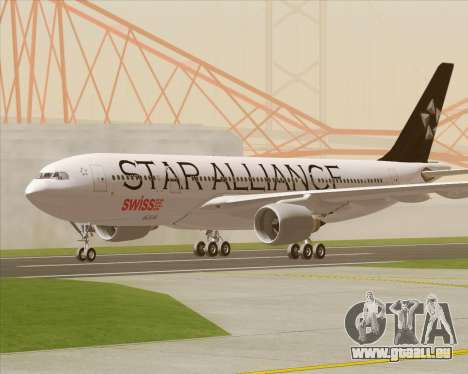 Airbus A330-200 SWISS (Star Alliance Livery) pour GTA San Andreas vue intérieure