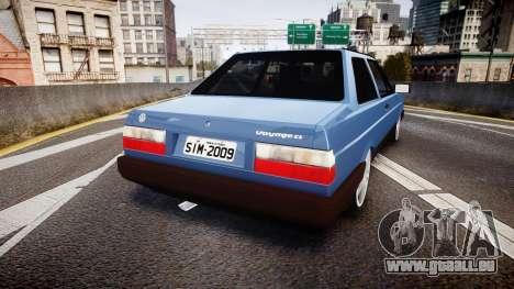 Volkswagen Voyage 1990 pour GTA 4 Vue arrière de la gauche