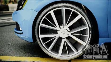Volkswagen Jetta 2015 pour GTA San Andreas sur la vue arrière gauche