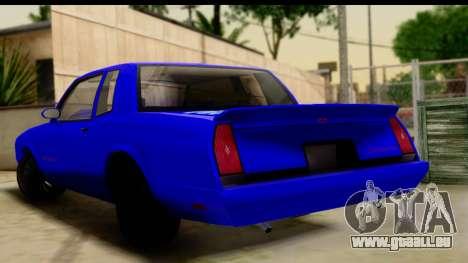 Chevy Monte Carlo pour GTA San Andreas laissé vue