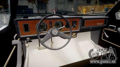 Ford Fairmont 1978 v1.1 pour GTA 4 Vue arrière