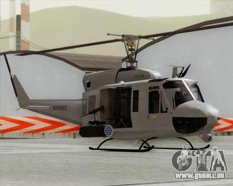 Bell UH-1N Huey USMC für GTA San Andreas zurück linke Ansicht
